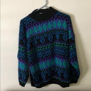 Doris Skis vintage sweater - large